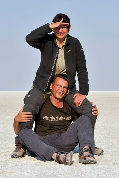 Picture of Karin and Tobias in Africa